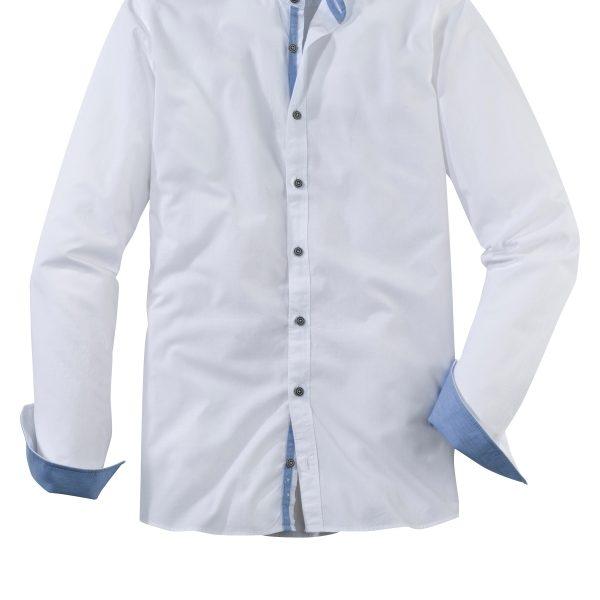 Langarm-Hemd mit Stehkragen von Olymp