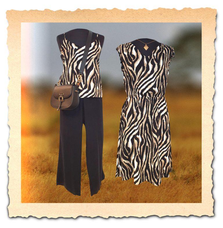 Outfitbild zum Thema Zebra-Streifen