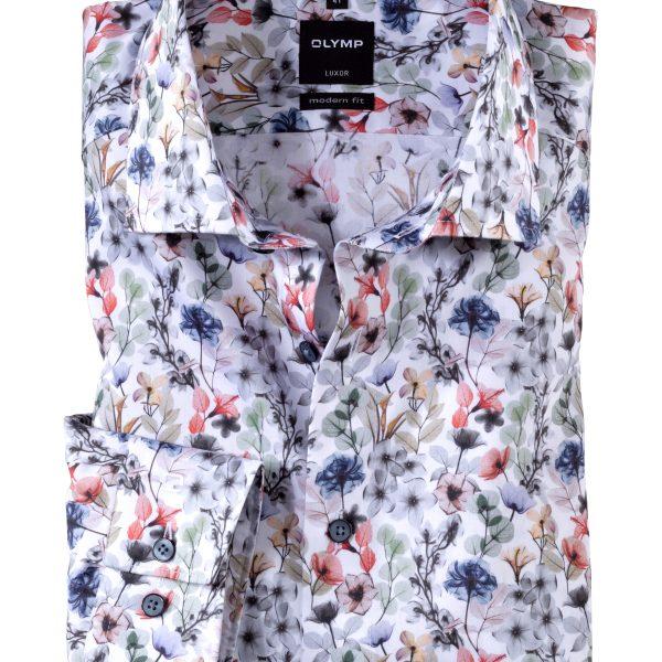 Herren Langarm-Hemd mit Blumenprint von Olymp