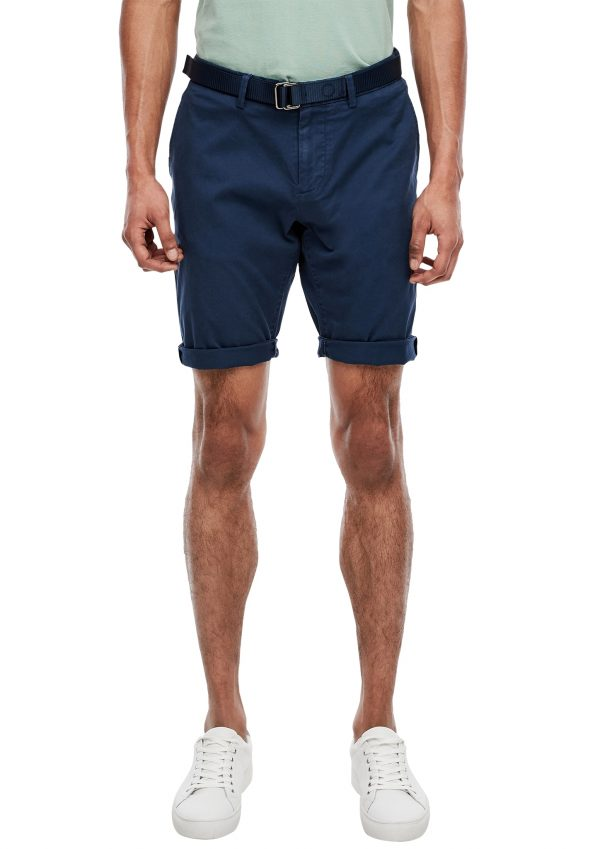Herren-Bermuda mit Gürtel in blau