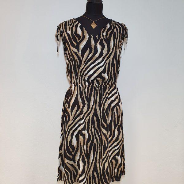 kurzes Viskose-Kleid im Animal-Print von b.young