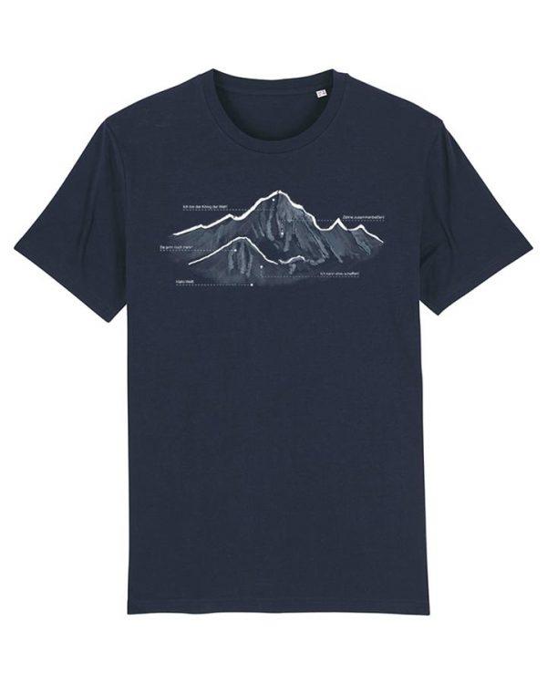 blauen Herren T-Shirt mit Berg