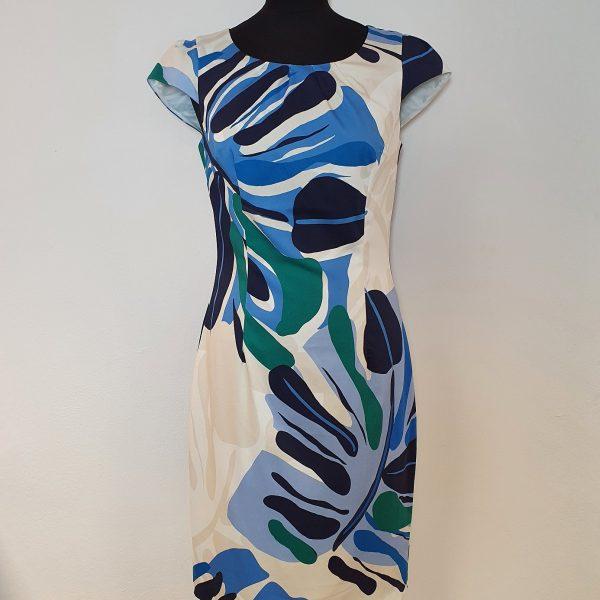 blau gemustertes Baumwollkleid von Mekstone